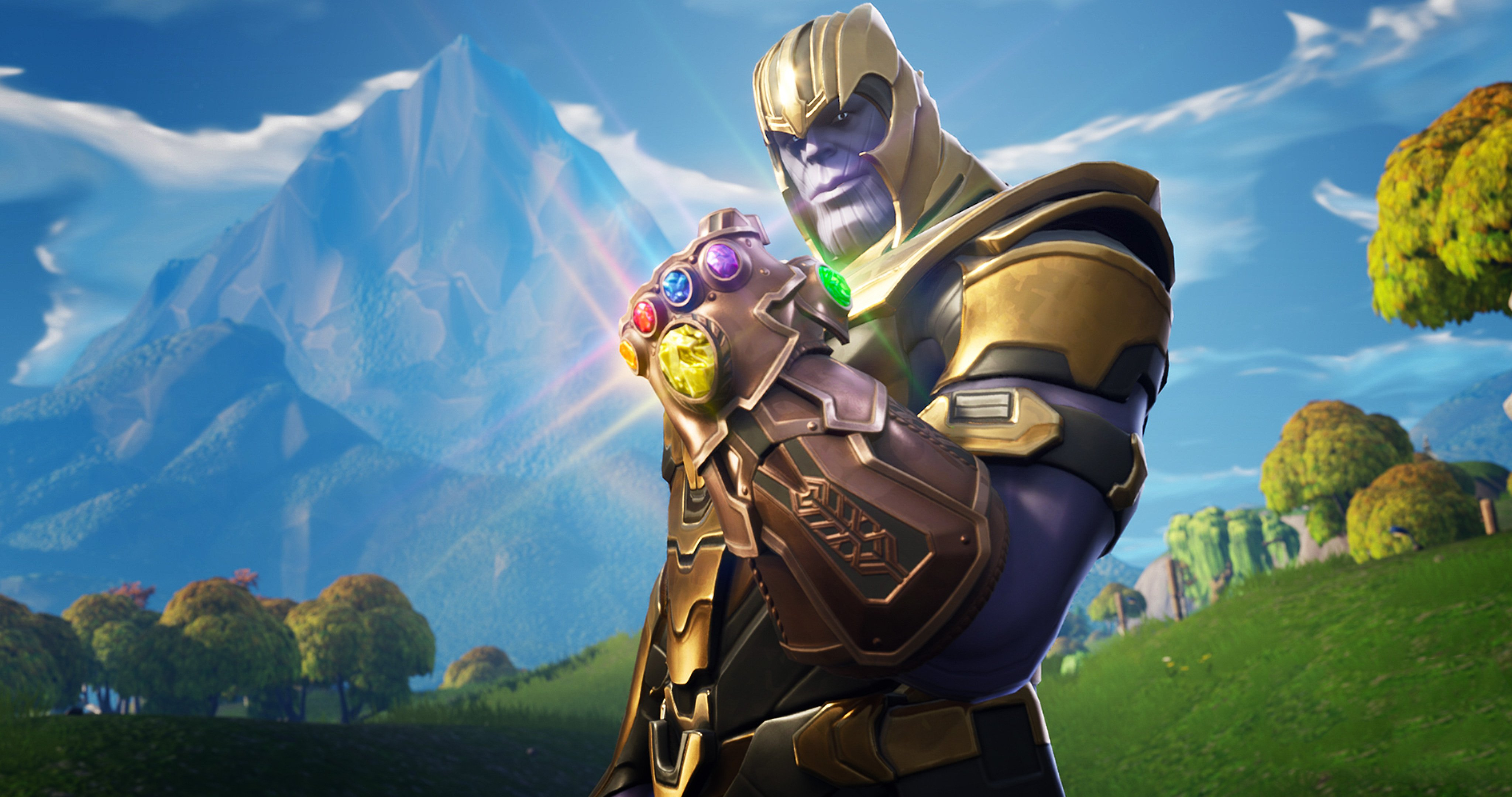 download Thanos In Fortnite Battle Royale HD Games 4k 4096x2160