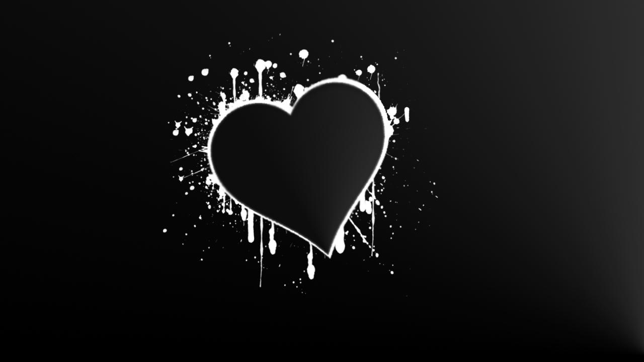 Black And White Love Heart Wallpaper : Black White Hearts Wallpaper - WallpaperSafari