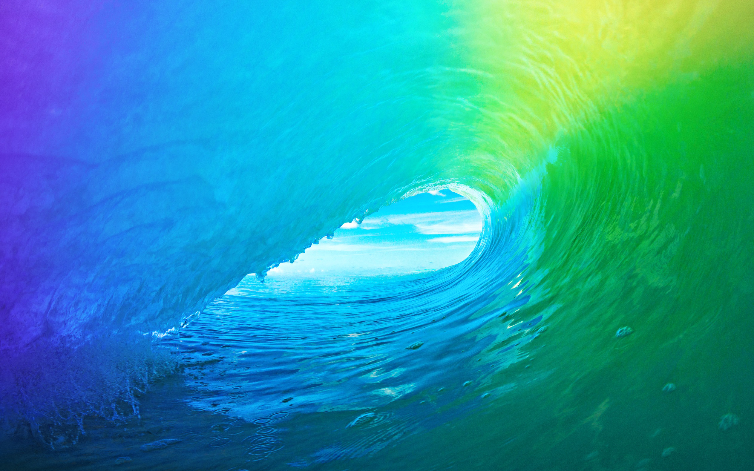 Download The Colored Wave Default iOS 9 Wallpaper 2524x1577