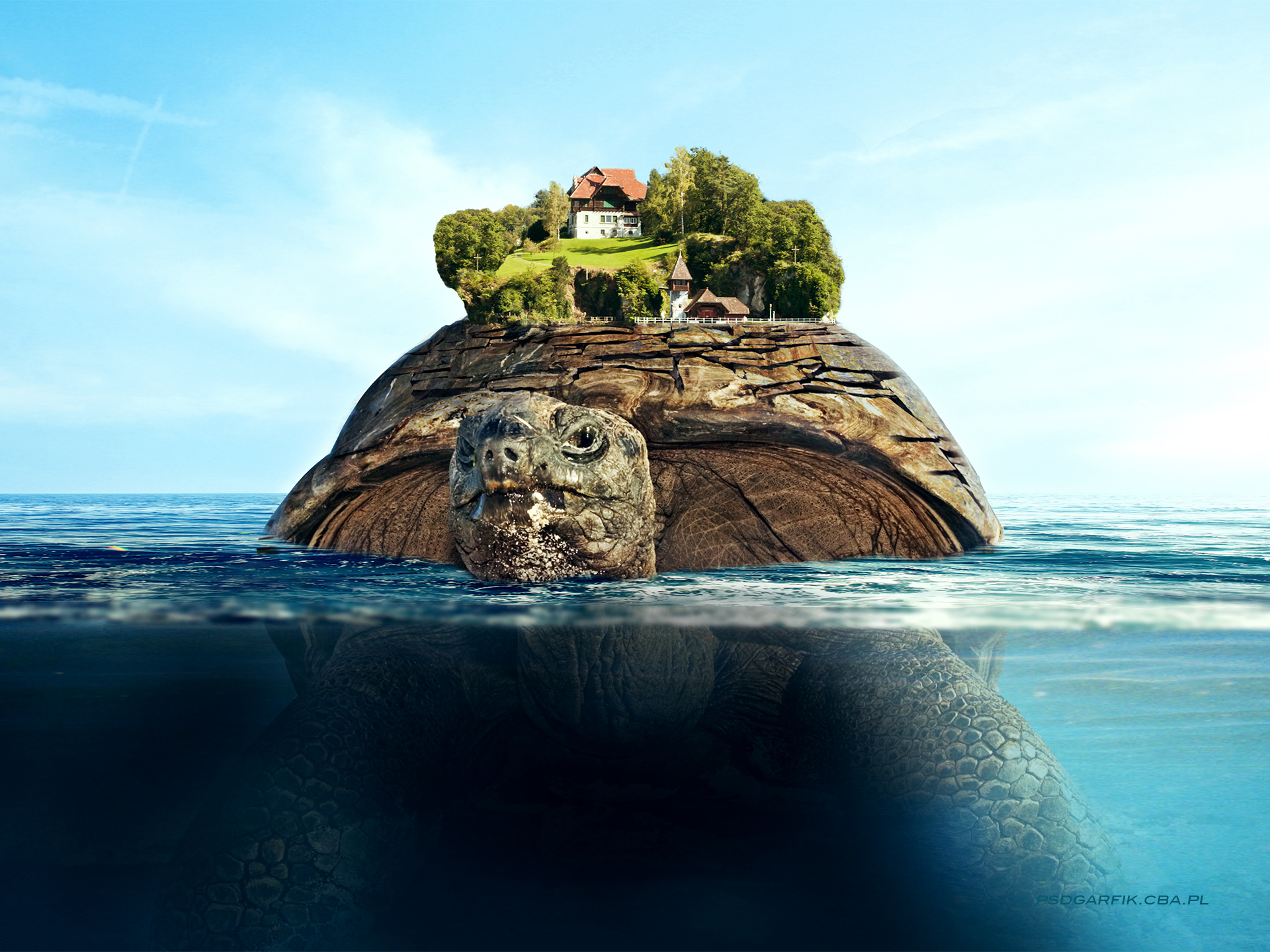 1920x1440 Floating island desktop PC and Mac wallpaper 1920x1440