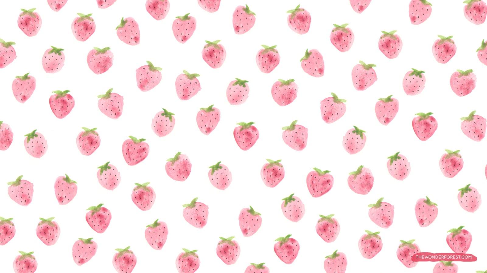 Kawaii Strawberry Wallpaper