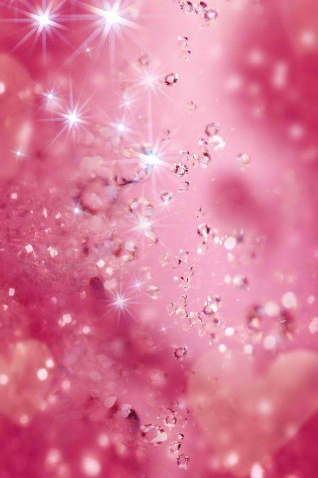 Pink glitter iPhone wallpaper Scrapbook   Elements etc Misc Backgr 640x960