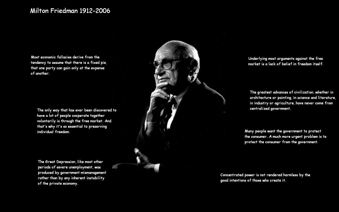 Milton Friedman wallpaper by toolshed333 1440x900