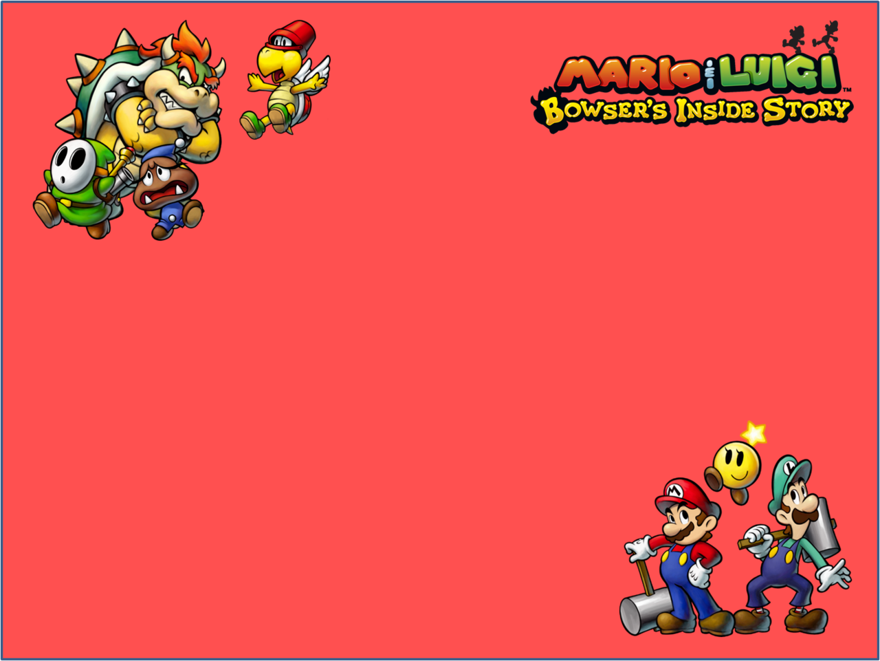 Free Download Mario And Luigi Bowsers Inside Story Wallpaper By