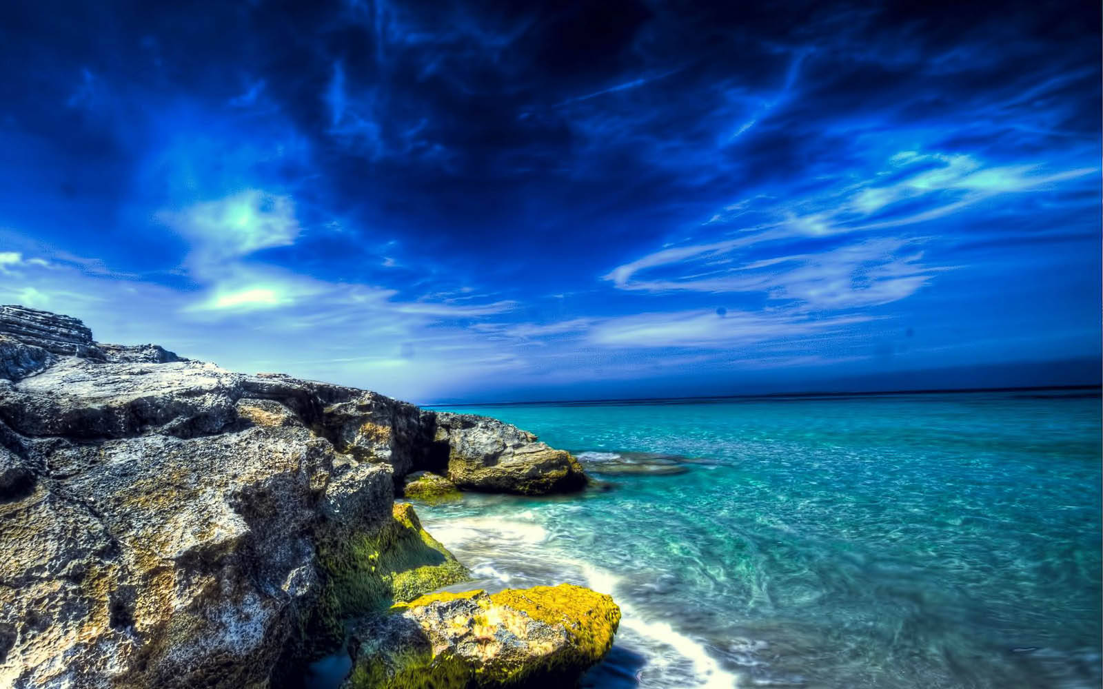 wallpaper Rocky Beach Desktop Wallpapers 1600x1000