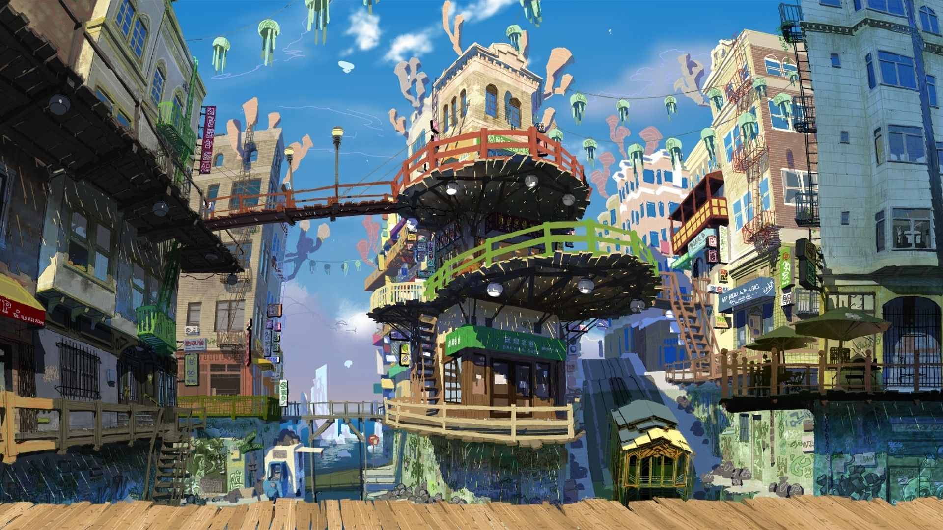 Anime Town Wallpapers   Top Anime Town Backgrounds 1920x1080