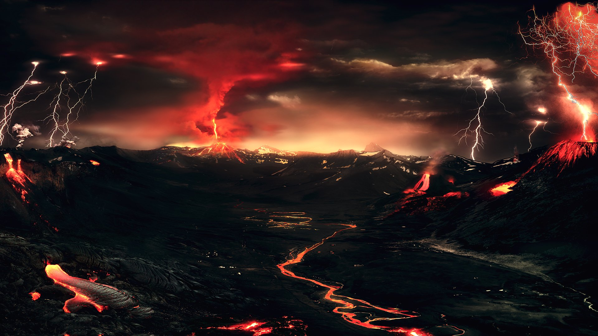 174 Volcano HD Wallpapers Background Images 1920x1080