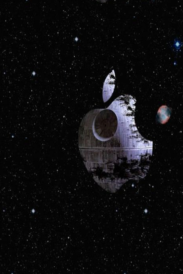 Download for iPhone logos wallpaper Apple Deathstar 640x960