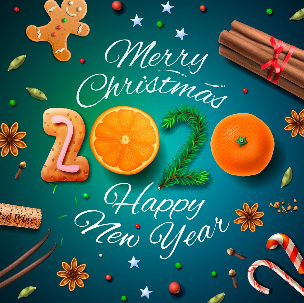 download 33 Best Merry Christmas and Happy New Year 2020 1000x997
