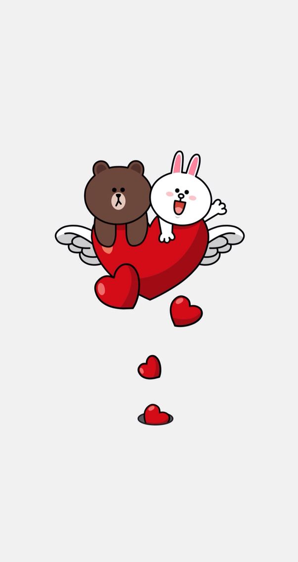 Brown and cony love love line brown cony Pinterest 602x1136