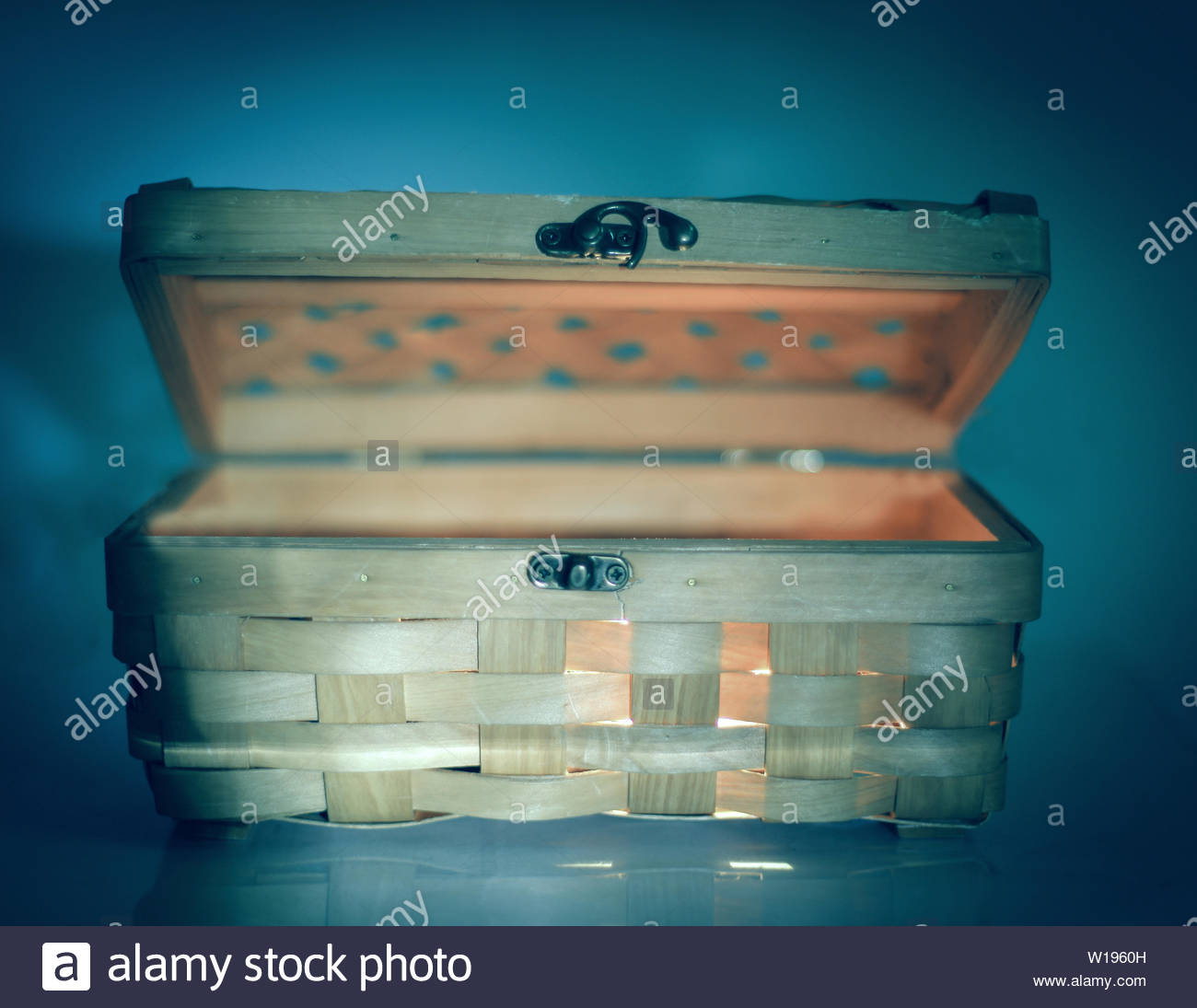 beautiful wicker casket isolated on a light backgroundphoto with 1300x1095