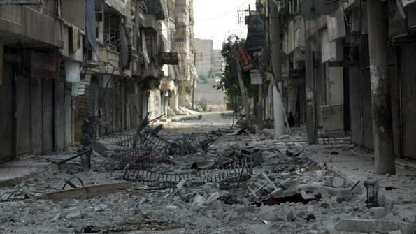 Destroyed City Street Background Destroyed City Street 595x335