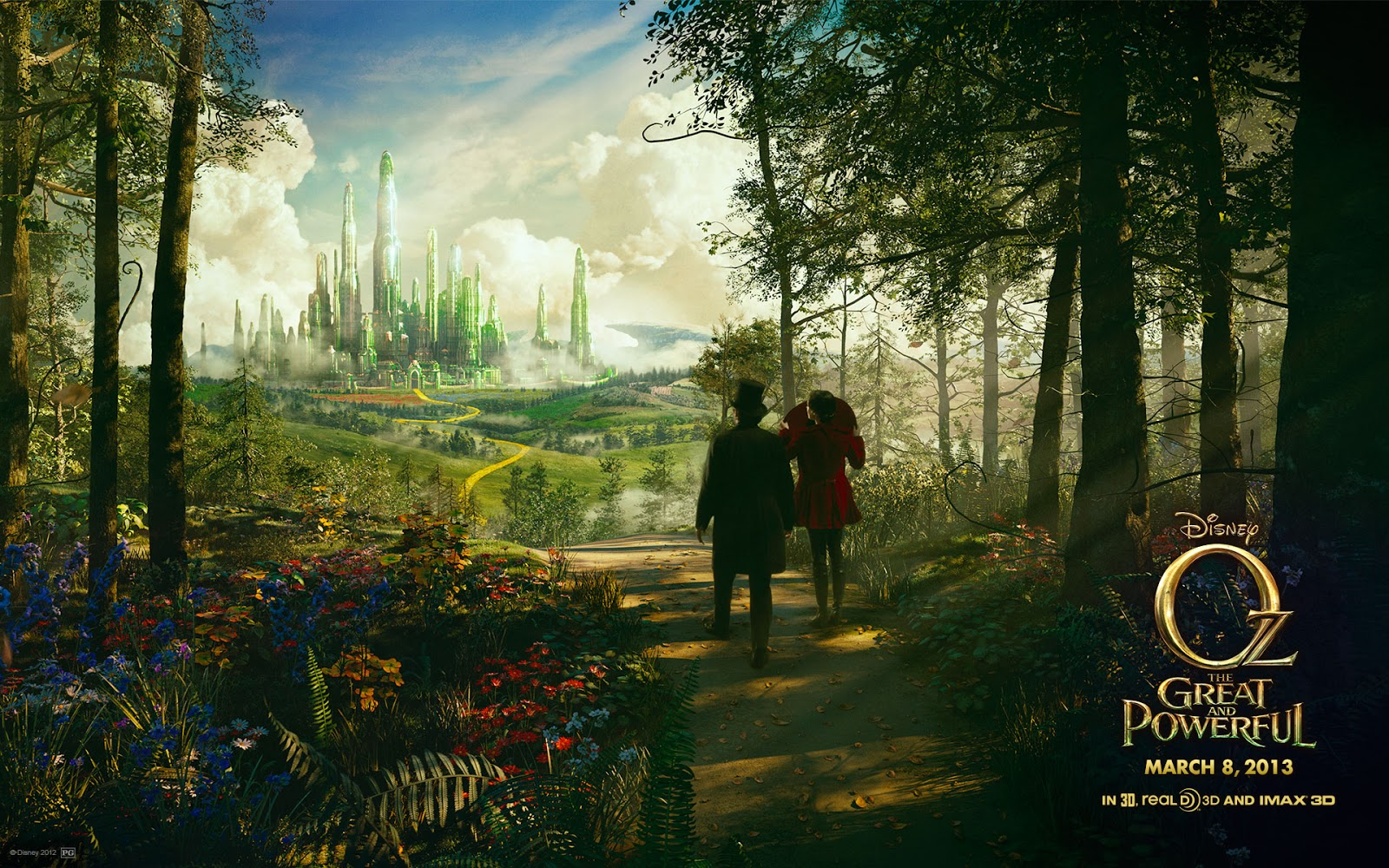 Emerald city   Oz the Great and Powerful Mystery Wallpaper 1600x1000