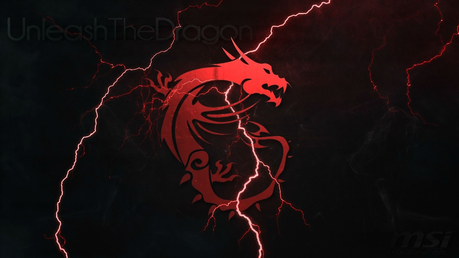 MSI Micro Star International Unleash The Dragon Logo Lightning 1600x900