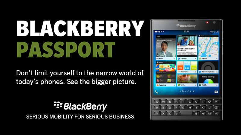 BlackBerry Passport For Mobile Professionals 800x450