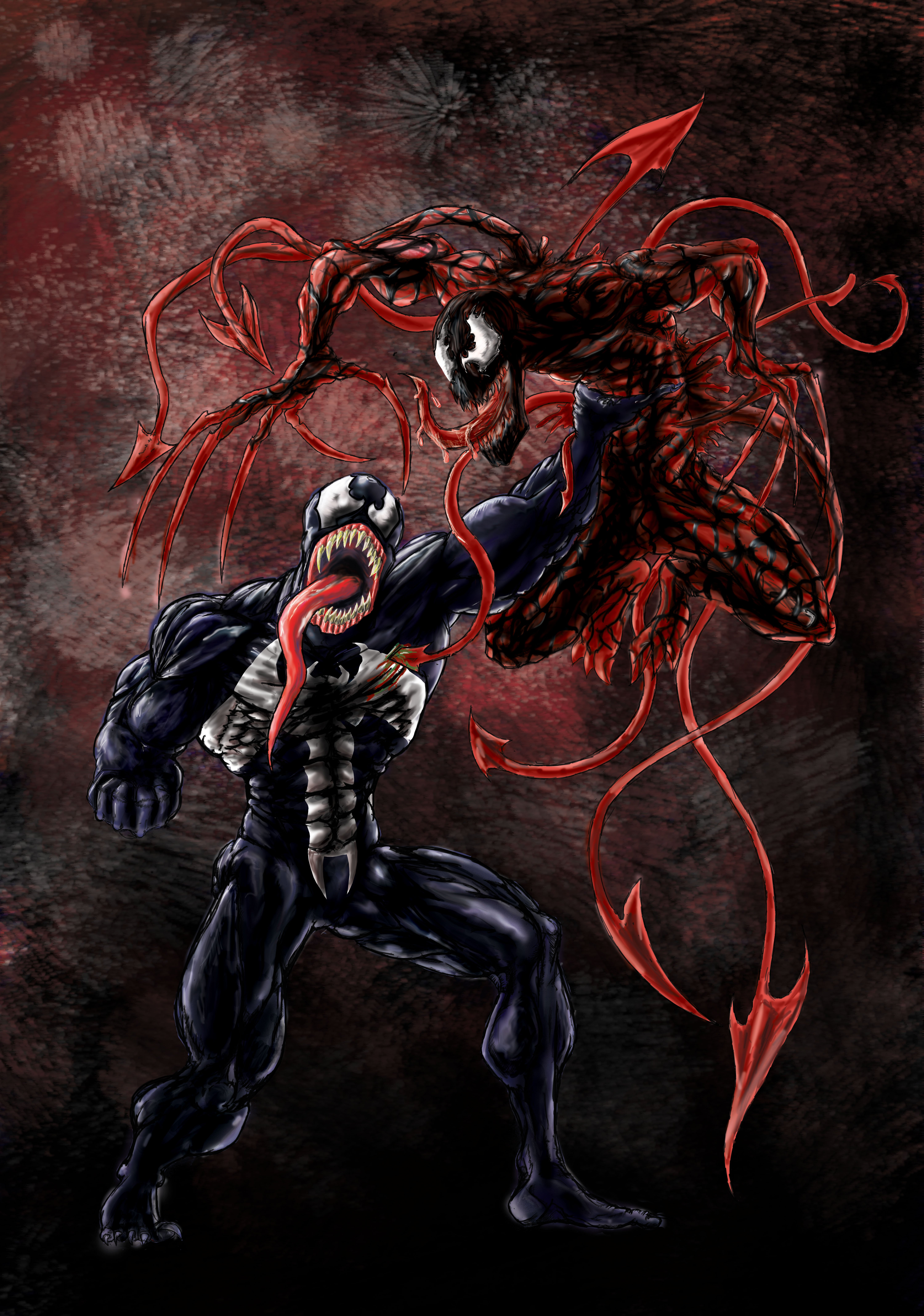 Venom and Carnage by dahk16 6000x8543