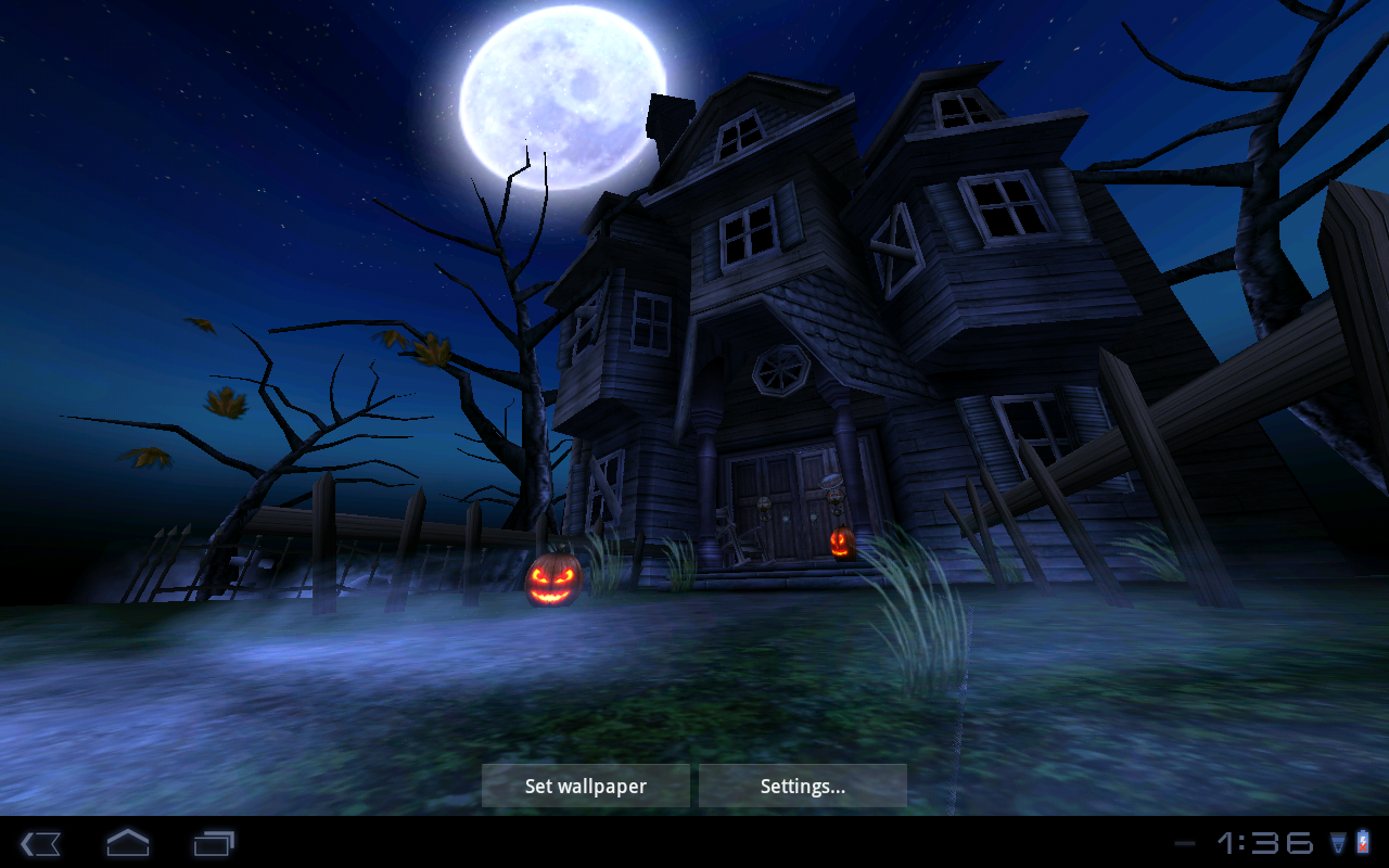 Haunted House HD Live Wallpaper Just in time for Halloween [Video 1280x800