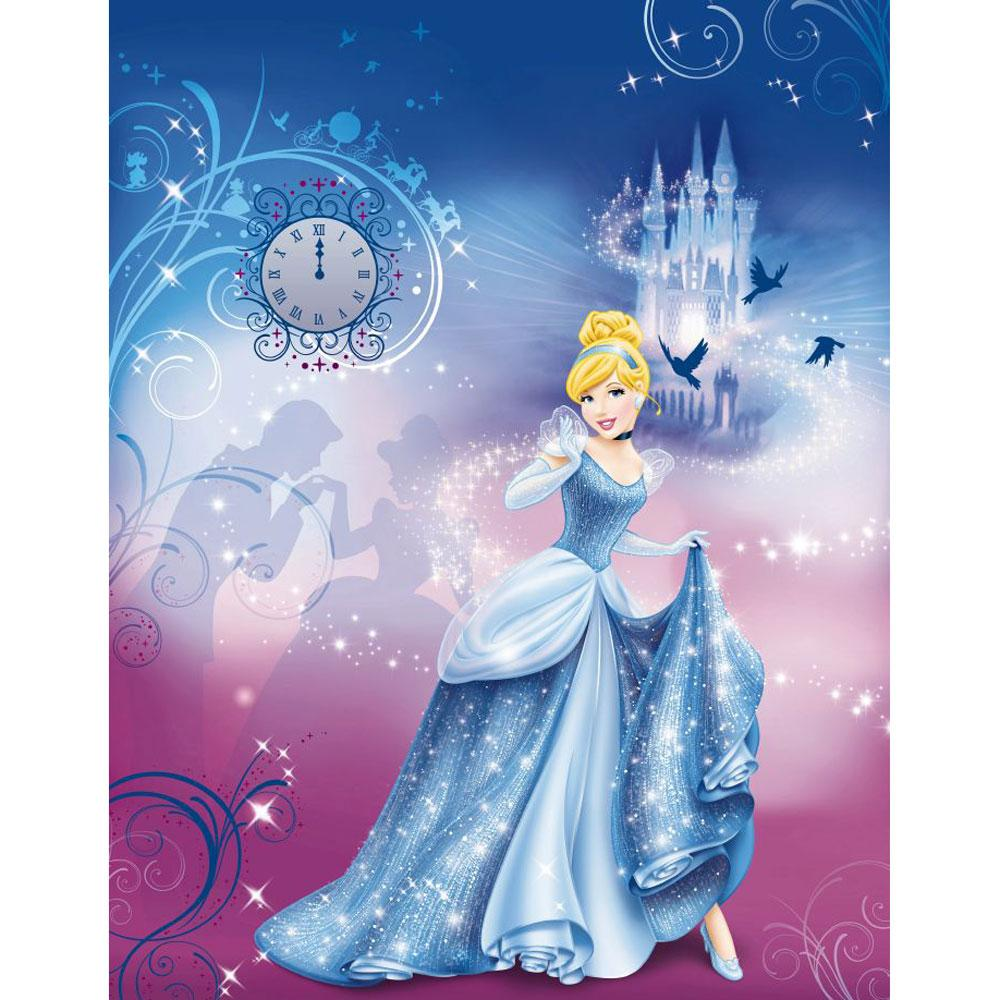 DISNEY PRINCESS CINDERELLAS NIGHT LARGE PHOTO WALL MURAL ROOM DECOR 1000x1000