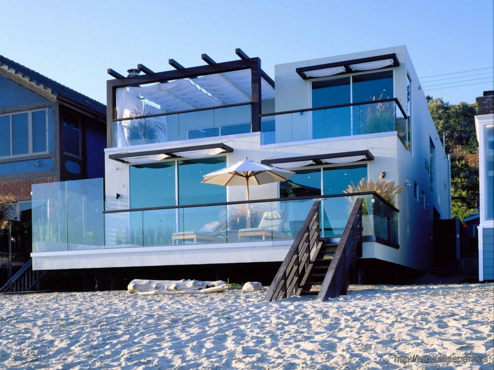 HD Beach House HD wallpaper 1600x1200