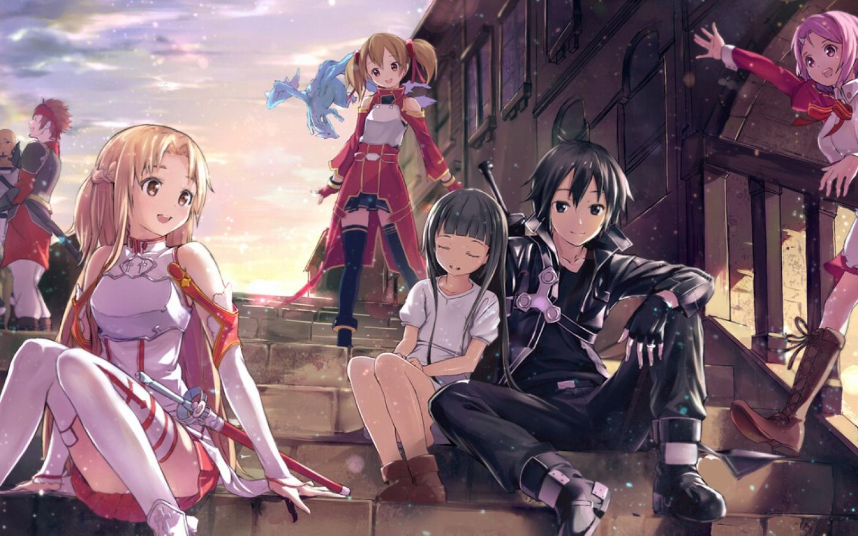 Kirito Beautiful Asuna and Cute Yui SAO Hd Wallpaper   HD Backgrounds 1440x900