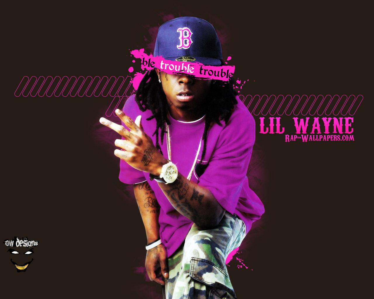 Lil Wayne Trouble Rap Wallpapers 1280x1024