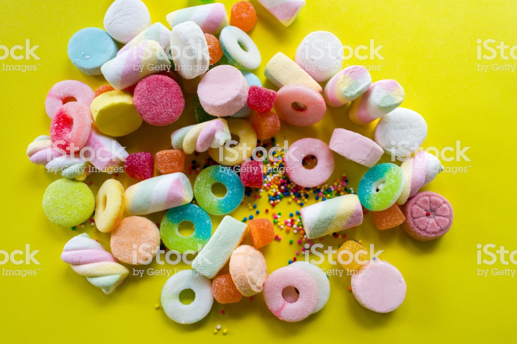Gummies And Candies Wallpaper Stock Photo   Download Image Now 1024x682