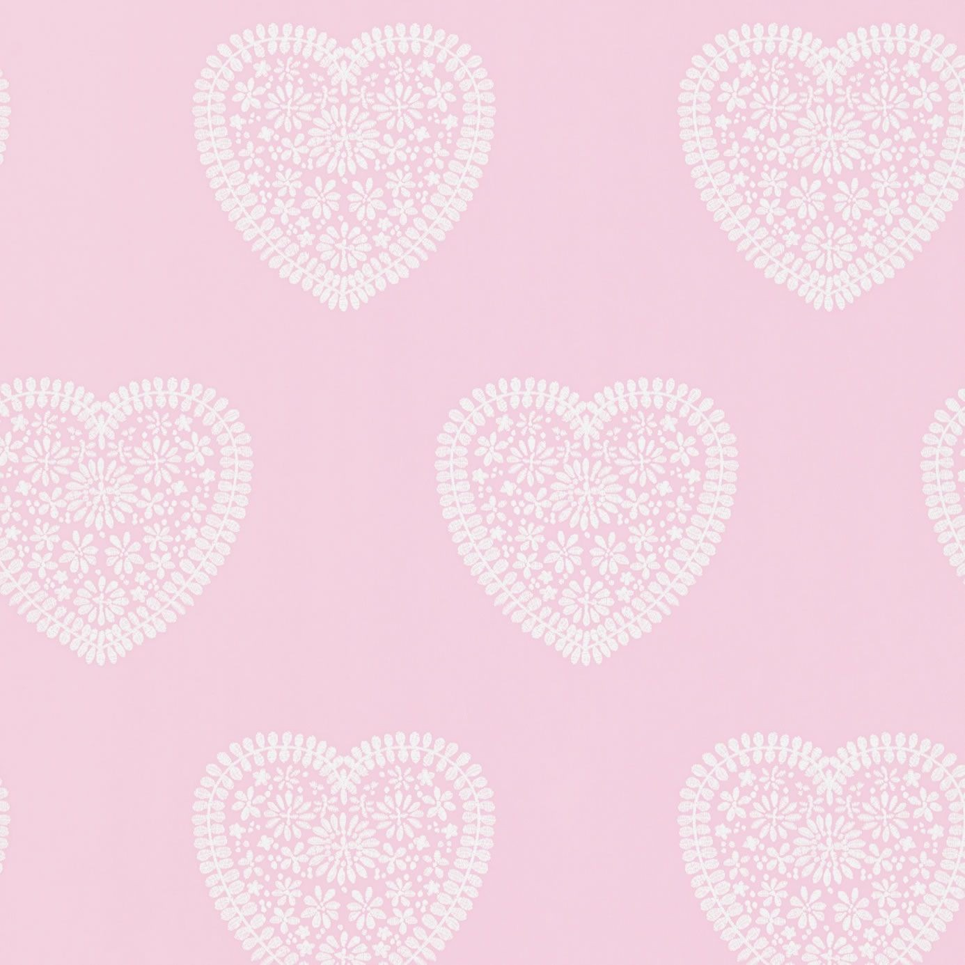 Soft Pink   110539   Sweet Hearts   All About Me   Harlequin Wallpaper 1386x1386