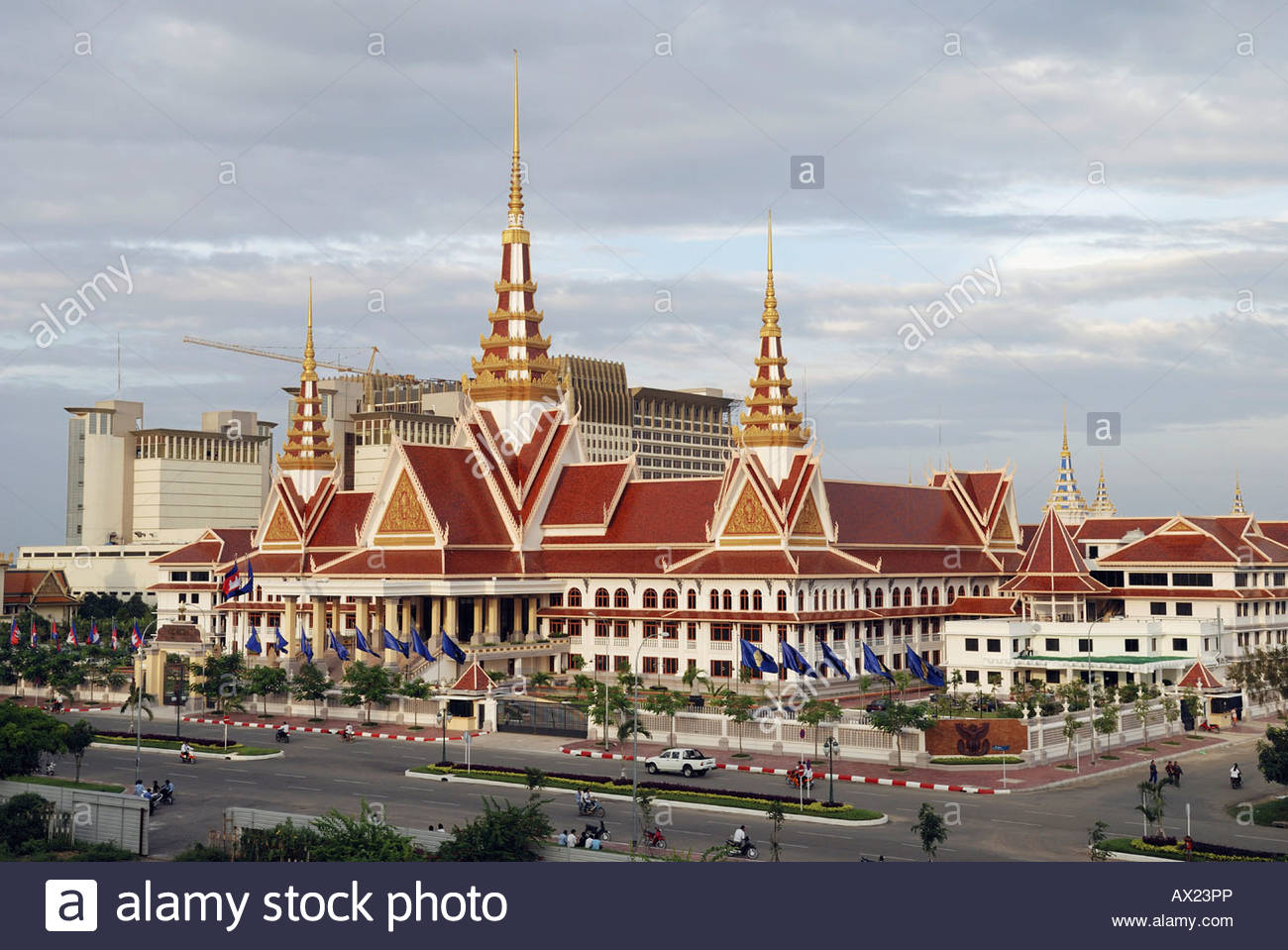 National Assembly and Nagar Casino Background Phnom Penh 1300x959