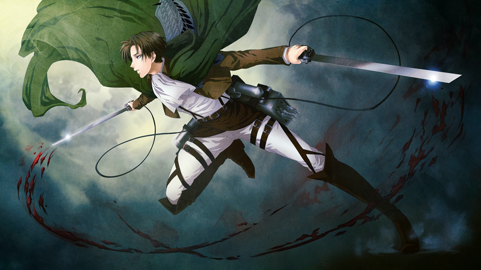 Attack On Titan Iphone Wallpaper Levi levi attack on titan 3d gear b04 1600x900