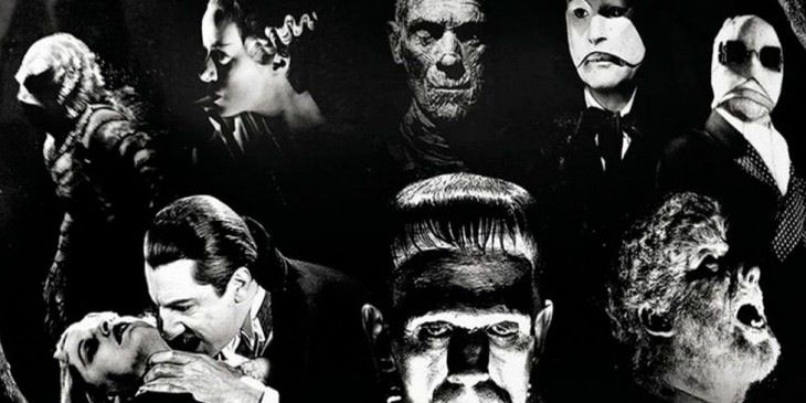 universal monsters wallpaper Classic Horror Films Pinterest 730x365
