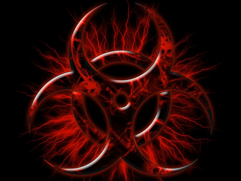 cool nuclear biohazard symbol