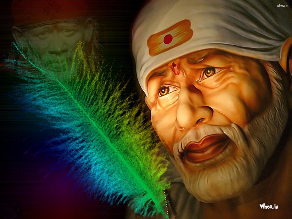 Sai Baba Face HD Wallpaper 1024x768