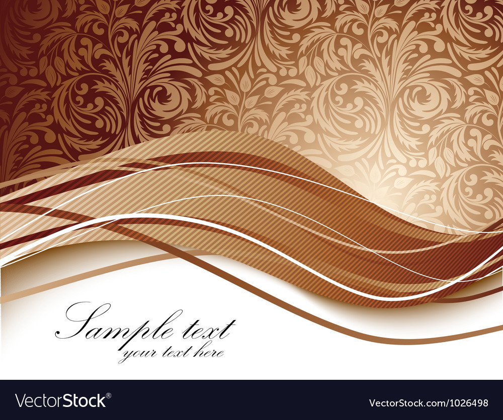 Floral background in brown color Royalty Vector Image 1000x836