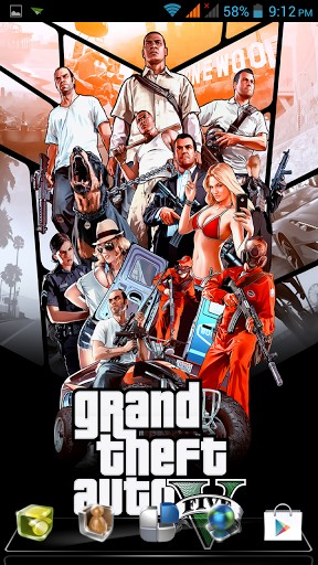 Download GTA 5 Live Wallpaper for Android by Enzomnia Studios 288x512