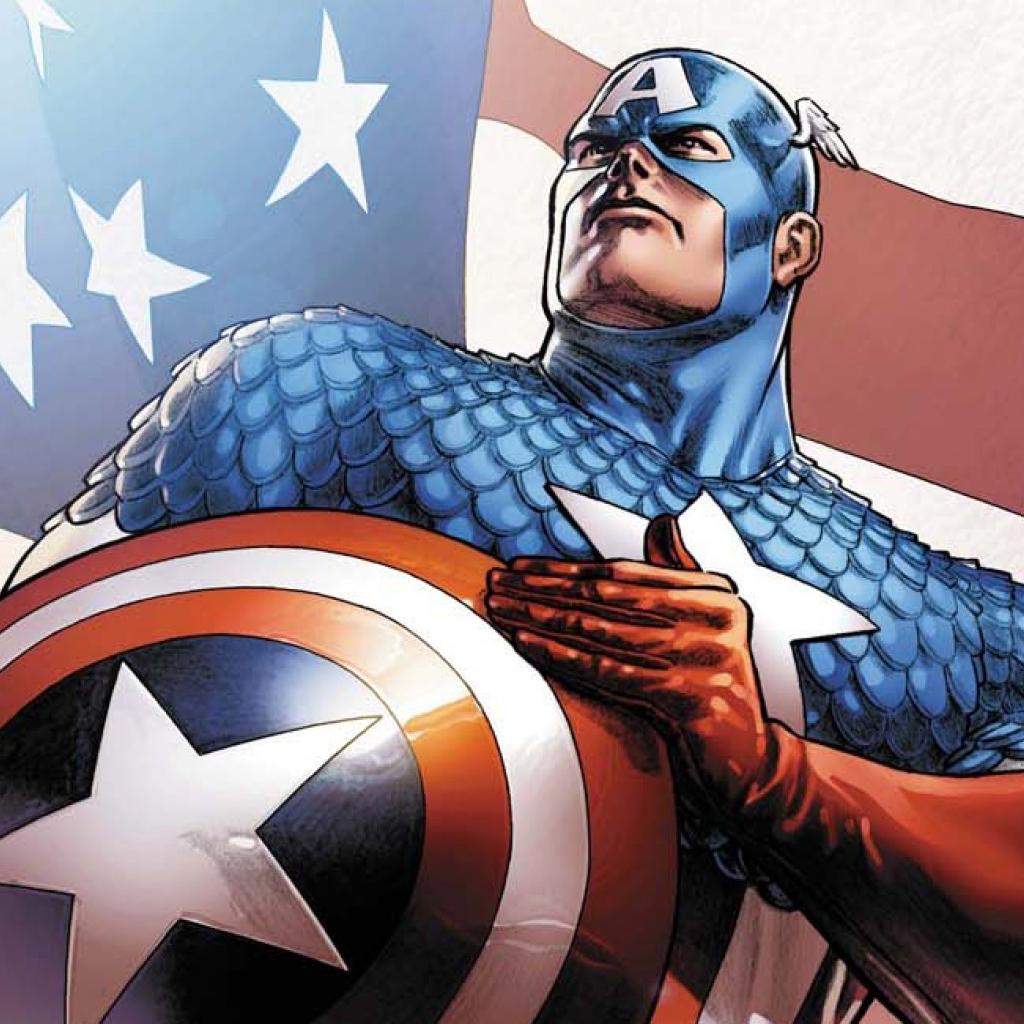 with captain america comic book wallpaper ipad wallpaper 1024x1024