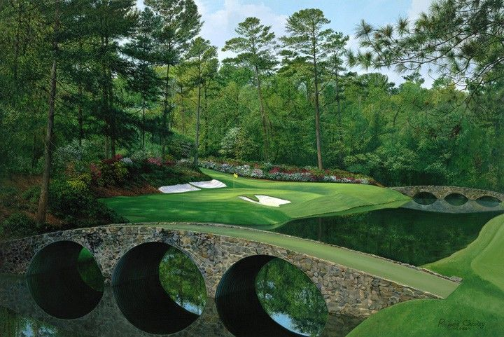 Augusta National Golf Club 12th Hole Golden Bell By William HD Walls 720x481