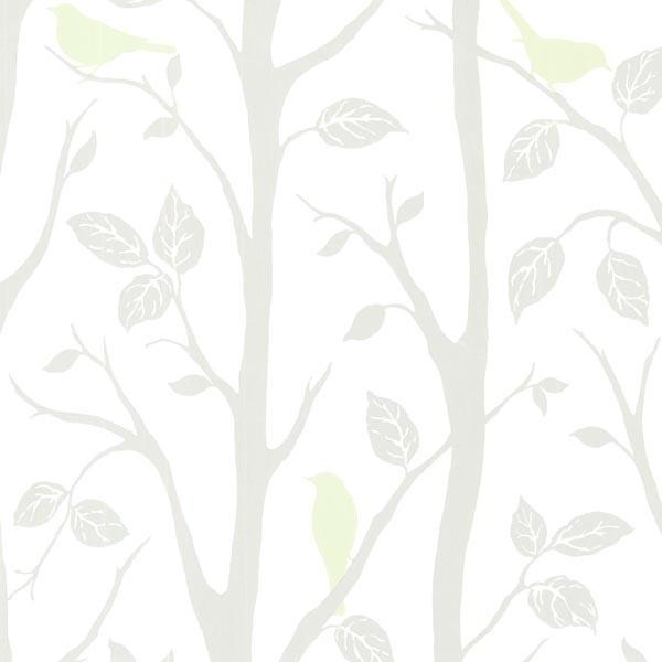 Light Green Bird Branches Wallpaper Bolt   Contemporary   Wallpaper 600x600