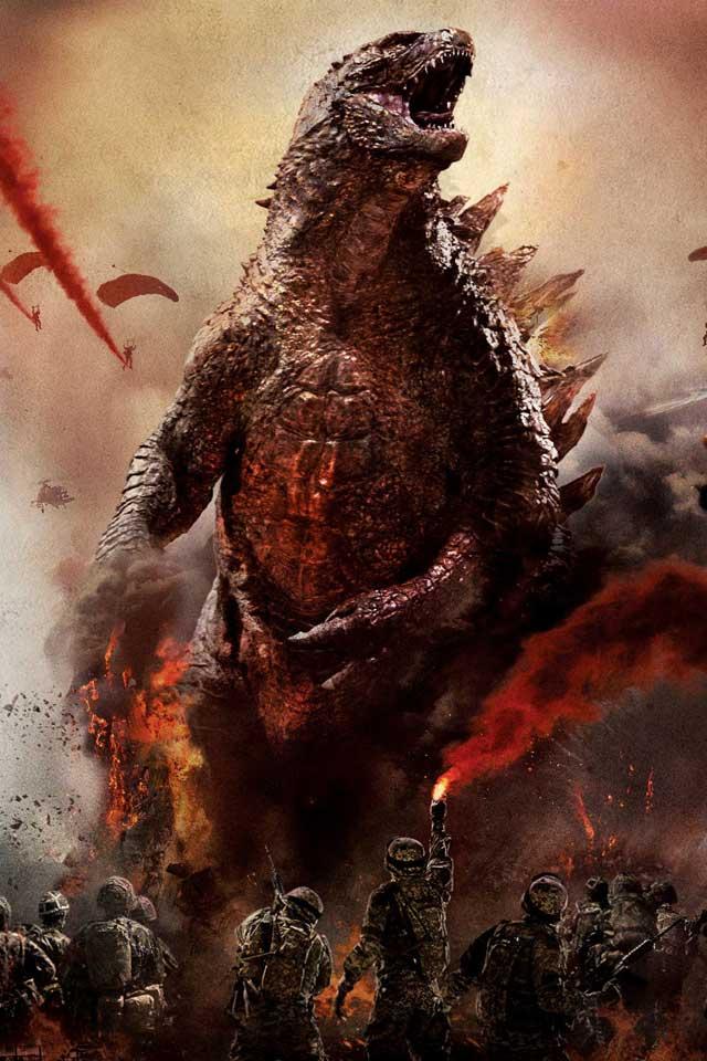 American Godzilla Wallpaper Hd Godzilla 2014 movie iphone 640x960