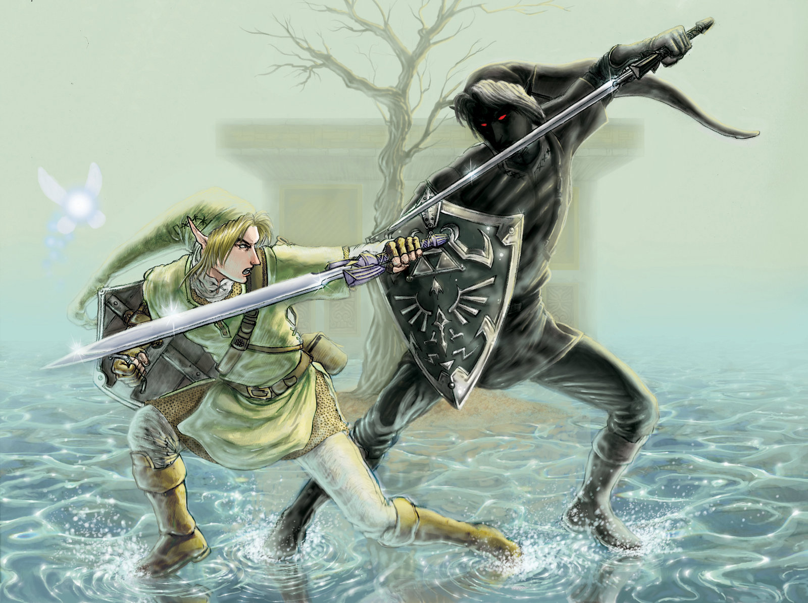 Showing Gallery For Dark Link Vs Link Wallpaper 1600x1195