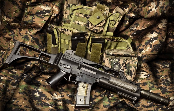 rifle machine gun guns camouflage wallpapers photos pictures 596x380