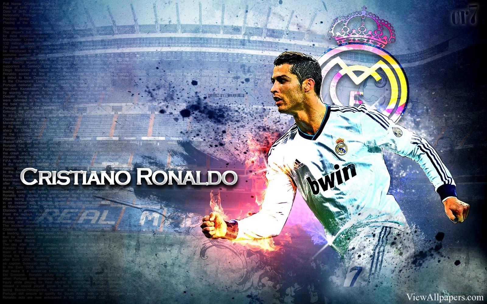 Ronaldo Wallpaper High Resolution download this CR7 2014 Ronaldo 1600x1000