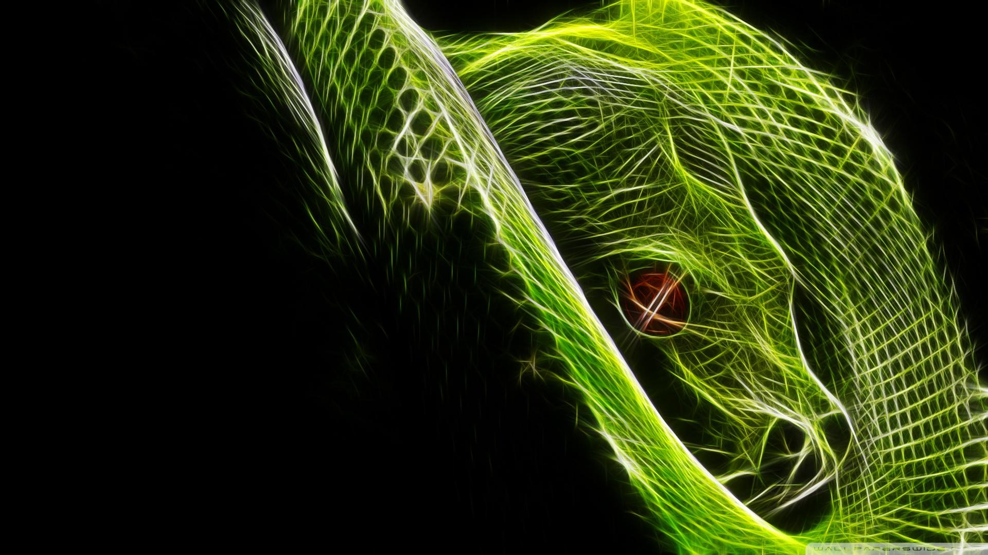 48 neon snake wallpaper on wallpapersafari - Green snake hd wallpaper ...