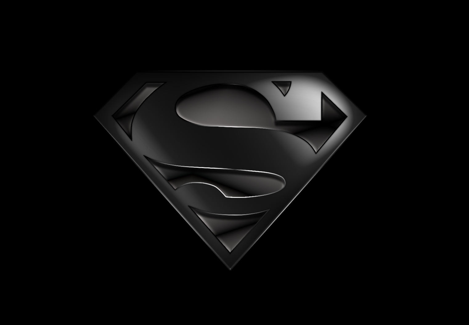 Black Superman Logo Wallpaper Superman Wallpaper hd Black 1522x1056