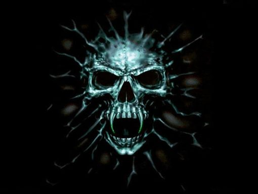 Download Evil Skull wallpapers to your cell phone   cool evil 510x383