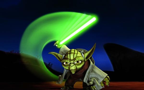 Animated Stars Wallpapers Star Wars Artwork Yoda Anime 600x375