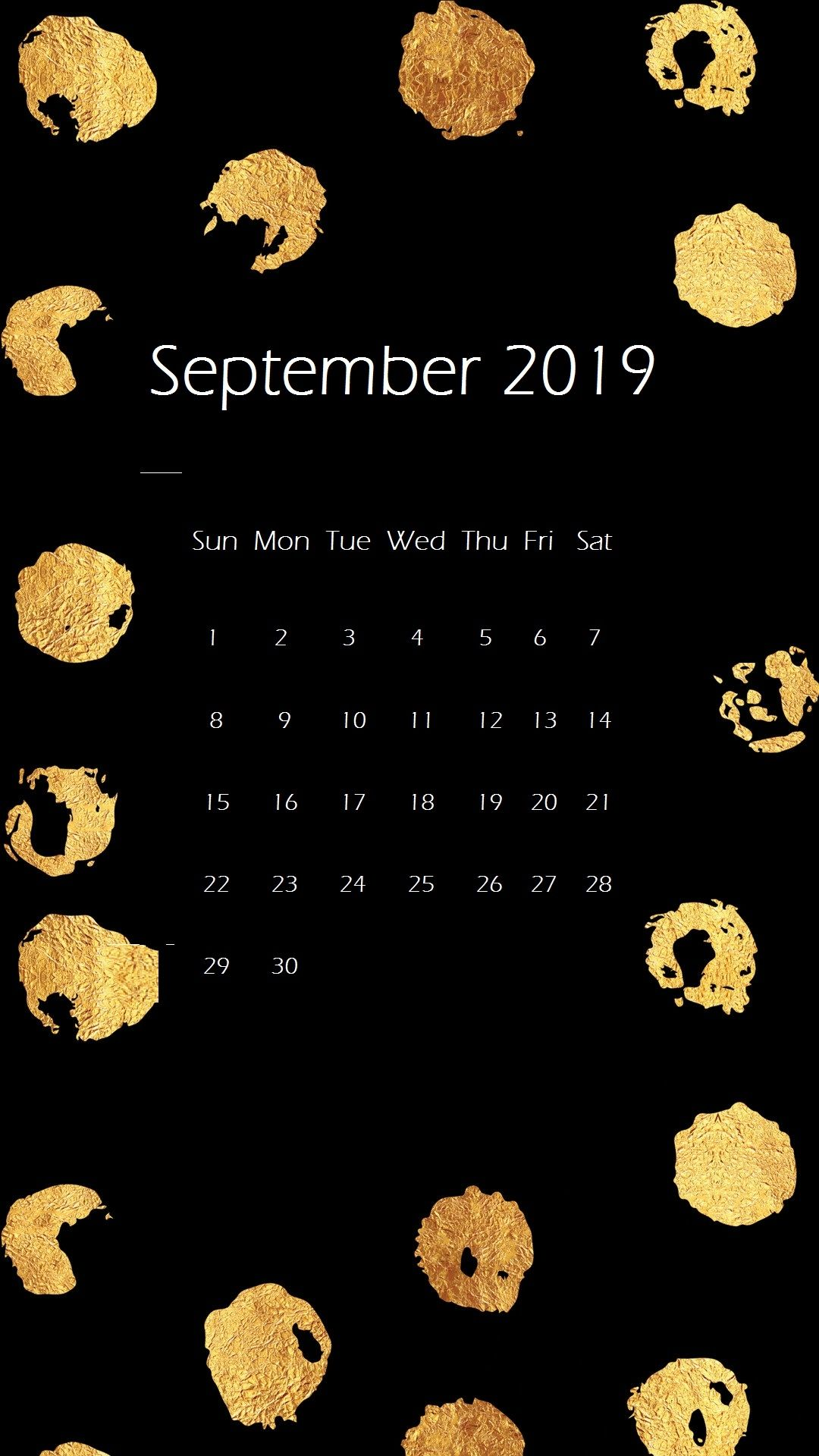 september 2019 iphone wallpaper calendar calendar 2019september 1080x1920