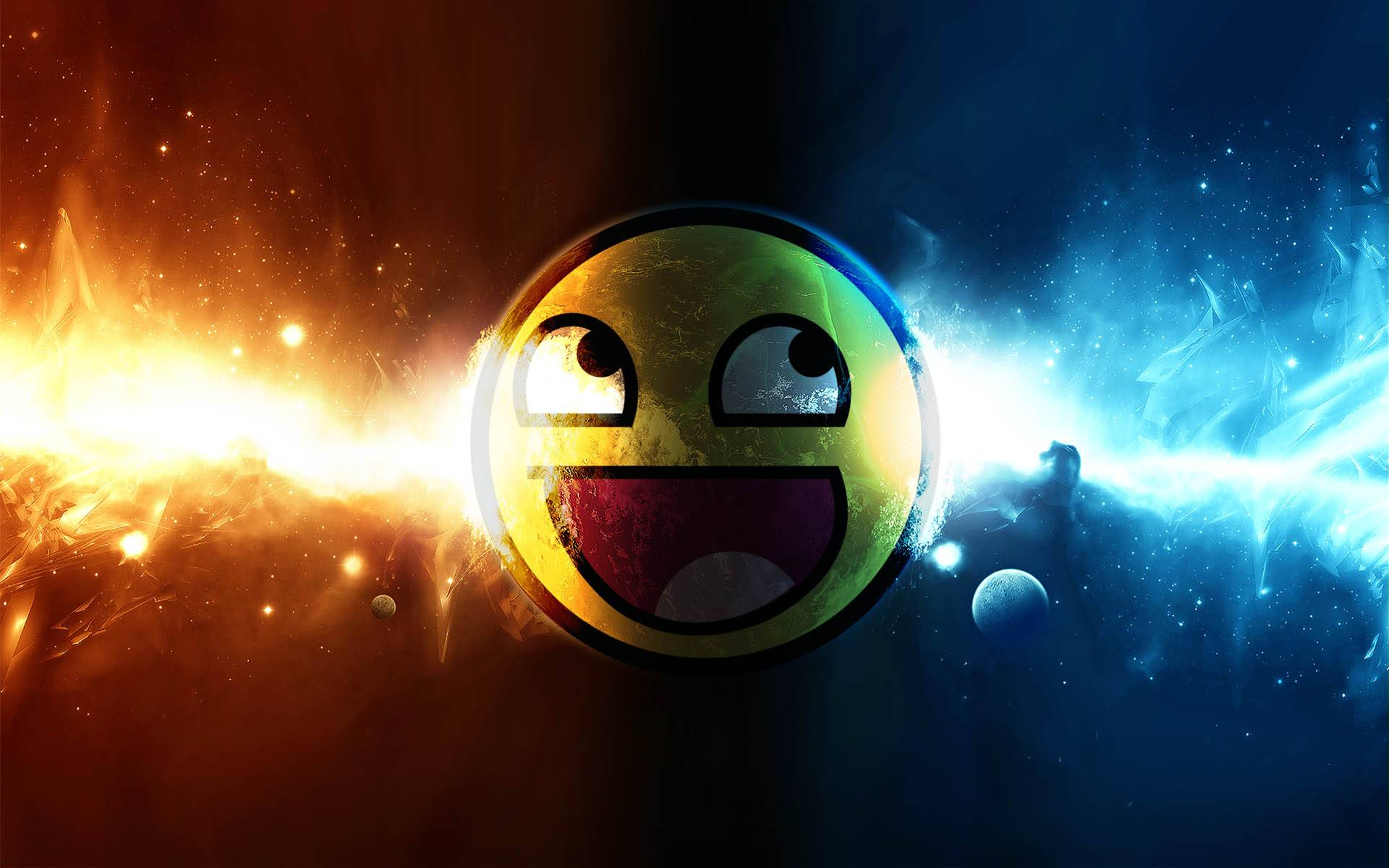 Awesome Cool 3D Smiley Background Wallpapers   Fullsize Wallpaper 1920x1200