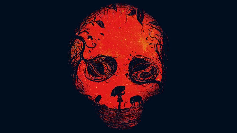 Red skull wallpaper 17395 1365x768
