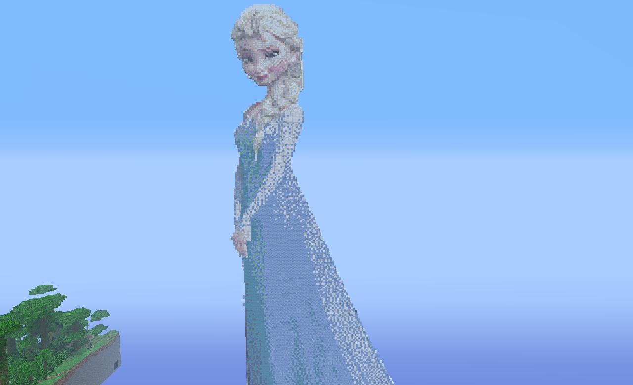 Free Download Minecraft Pixel Art Queen Elsa By Luke