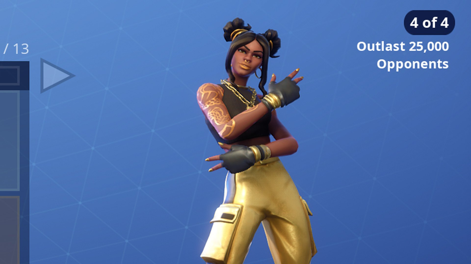 The Fortnite Season 8 Tier 100 skin is Luxe with four unlockable 1920x1080